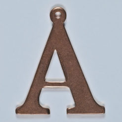 copper letter A
