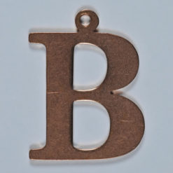 copper letter B