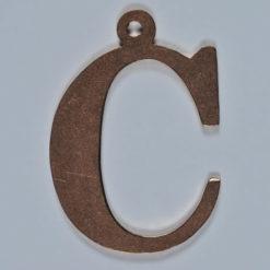 copper letter C