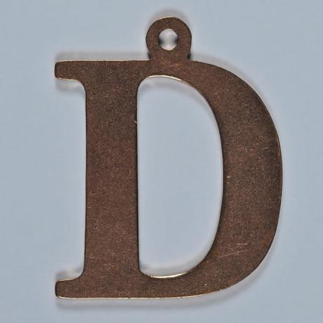 copper letter D
