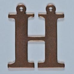 copper letter H