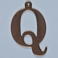 copper letter Q