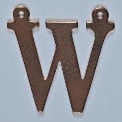 copper letter W