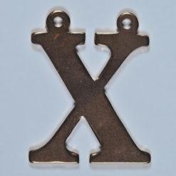 copper letter X