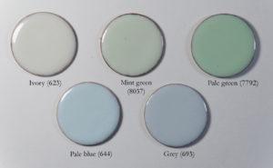 Fig 6: Smalti opachi che hanno un leggero tono opalescente su rame.