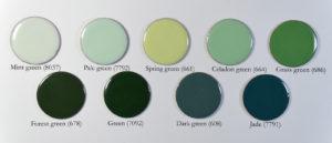 Figure 4: Green opaque enamel on copper.