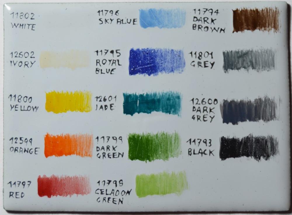 Figure 4: Base realizzata con smalto Blue white 7582 WGB. Due strati di smalti per pittura e due cotture a 800 ◦C