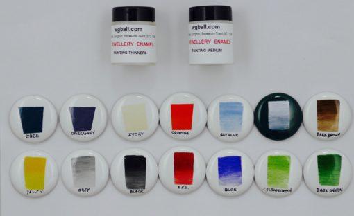 enamel painting colour set
