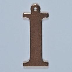 copper letter I