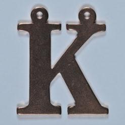 copper letter K