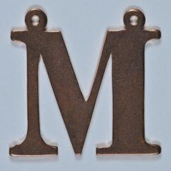 copper Letter M