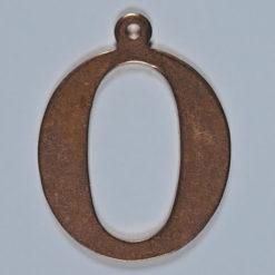 copper letter O