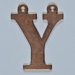 copper letter Y