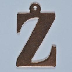 copper Letter Z